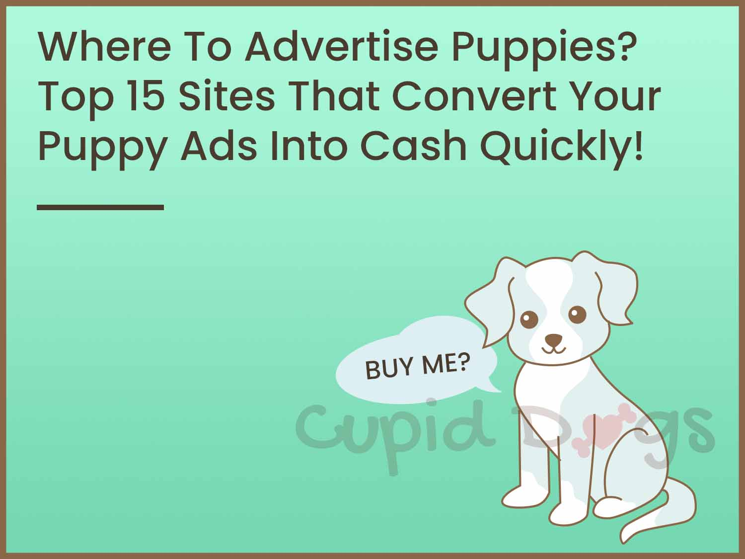 Where To Advertise Puppies? Top 15 Sites That Convert Your Puppy Ads Into Cash Quickly!