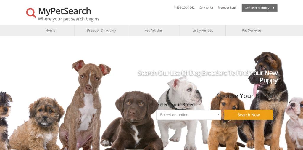 Where to advertise puppies? My pet search is an up and coming puppy sale site that is great for new breeders looking for inexpensive ways to advertise their kennel.