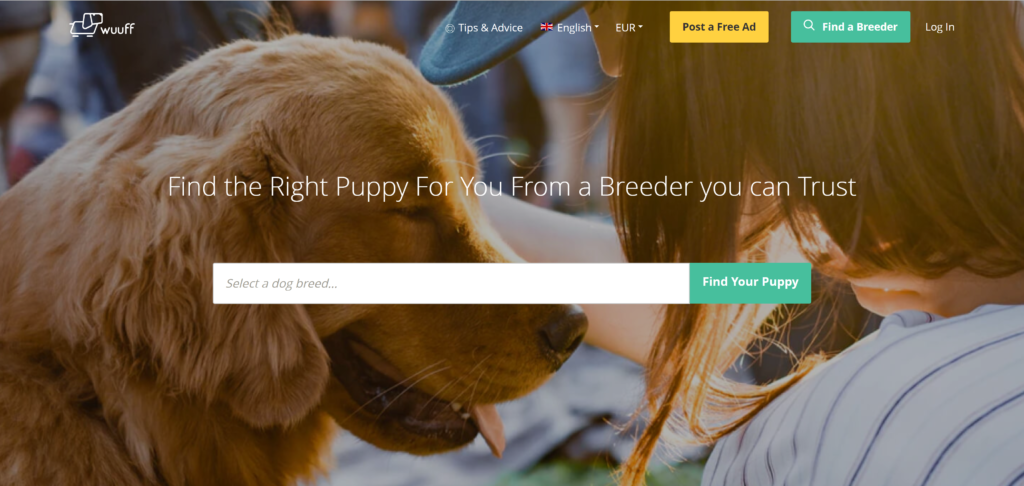 Where to advertise puppies?  Wuuff is a popular and easy to use puppy sale site for European breeders.