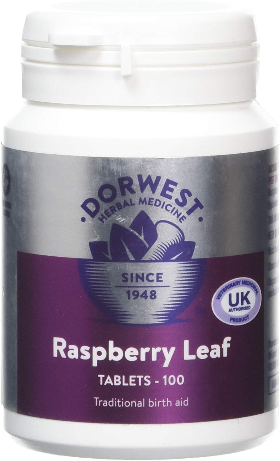 Dorwest Raspberry Leaf Tablets
