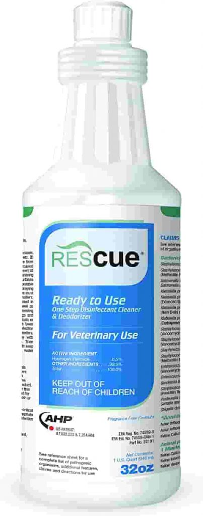 Rescue disinfectants are a versatile, broad spectrum cleaner for your dog kennels.